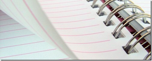 Lined Notebook Header