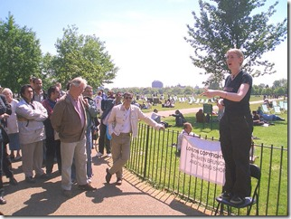 Speeches, London Copyfighters' Drunken Brunch and Talking Shop speeches at Speakers' Corner, Hyde Park, London by Cory Doctorow