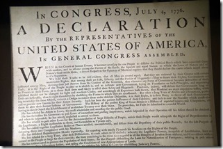 Declaration of Indepedence by David Amsler